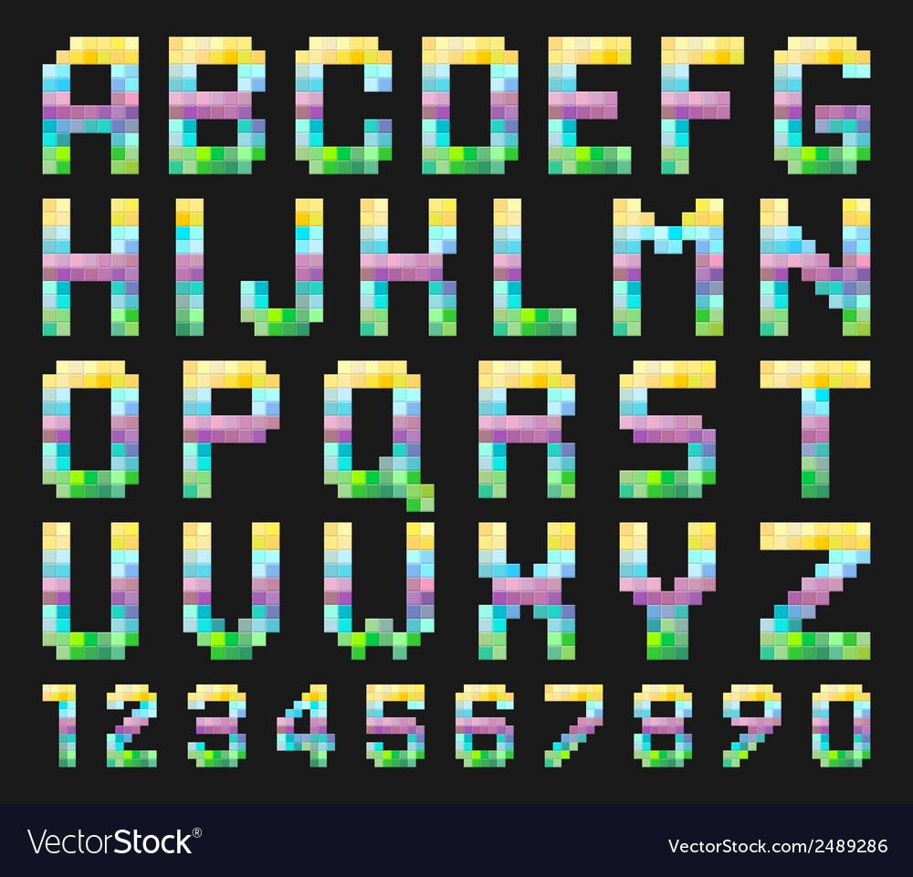 Colorful alphabet set vector | Price: 1 Credit (USD $1)