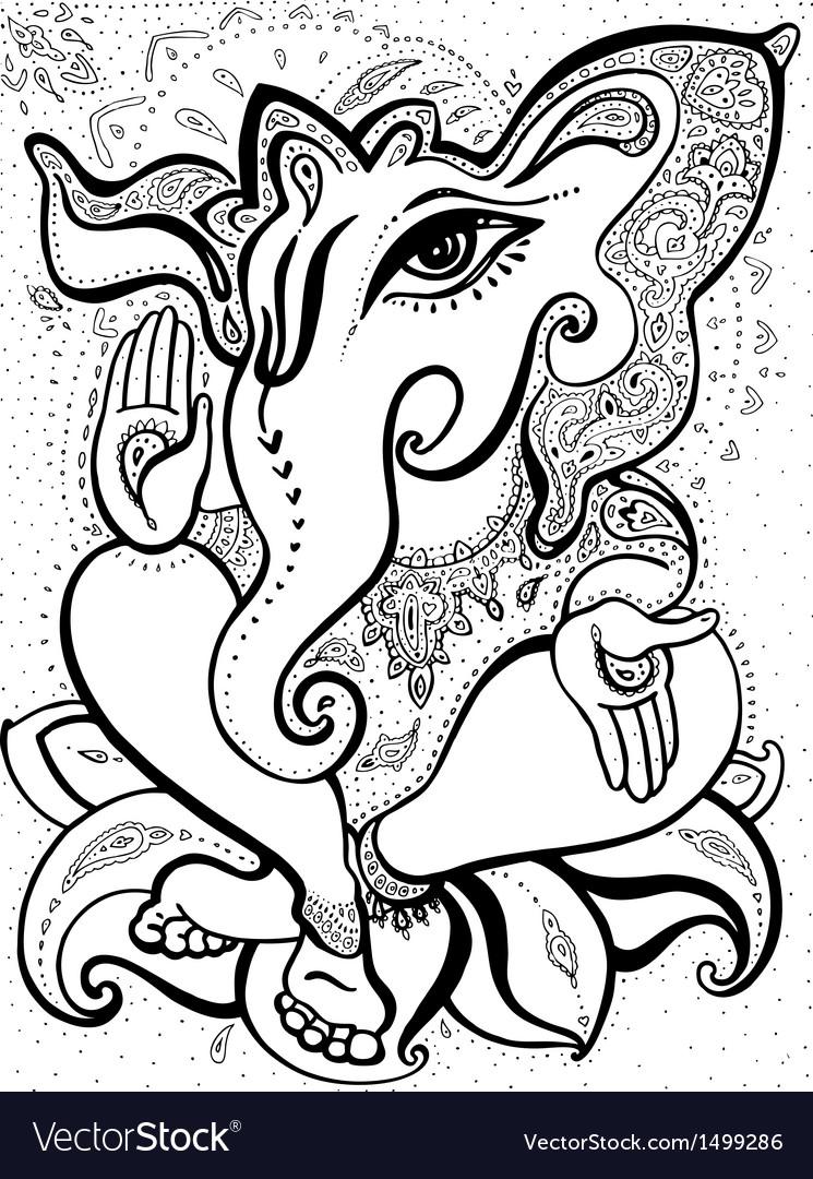 Ganesha hand drawn vector | Price: 1 Credit (USD $1)