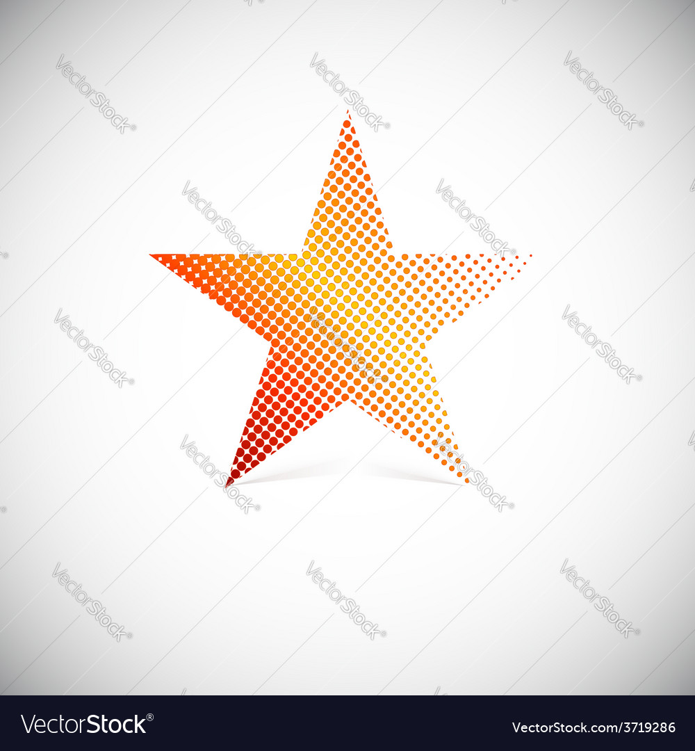 Halftone star vector | Price: 1 Credit (USD $1)
