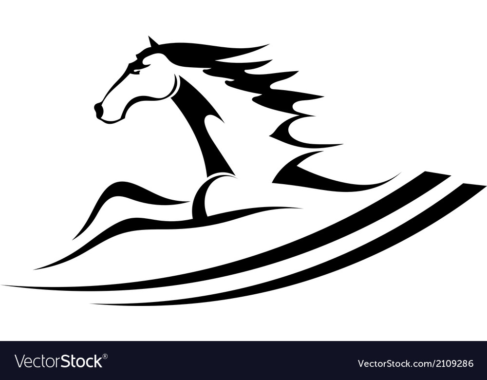 Horse tattoo symbol vector | Price: 1 Credit (USD $1)