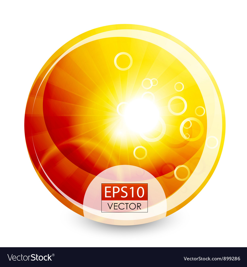 Orange shiny sphere background vector | Price: 1 Credit (USD $1)