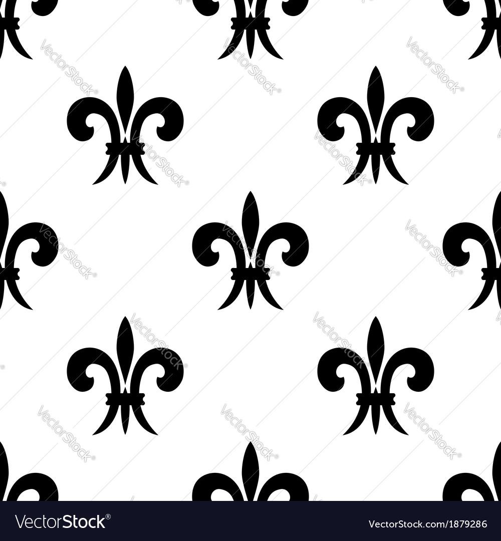 Repeat seamless pattern of fleur de lys vector   Price: 1 Credit (USD $1)