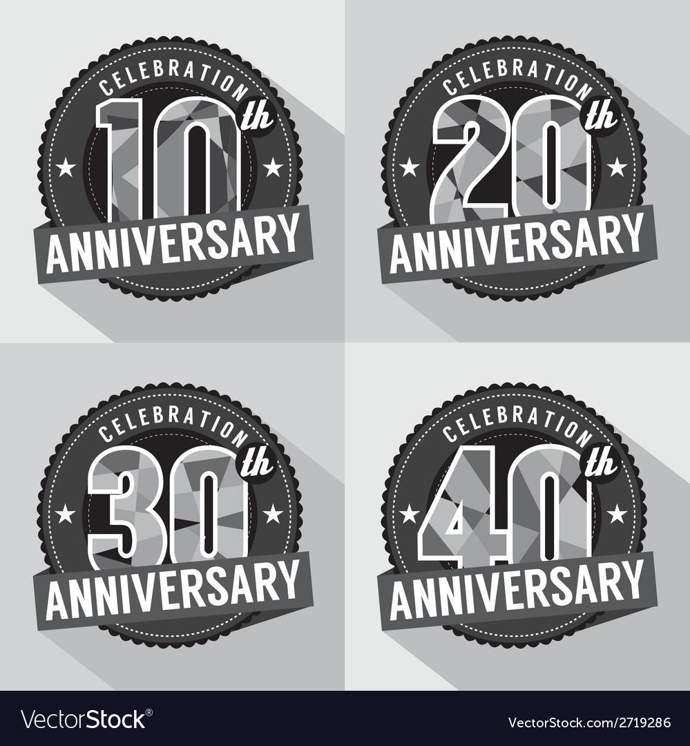 Set of anniversary celebration design vector | Price: 1 Credit (USD $1)