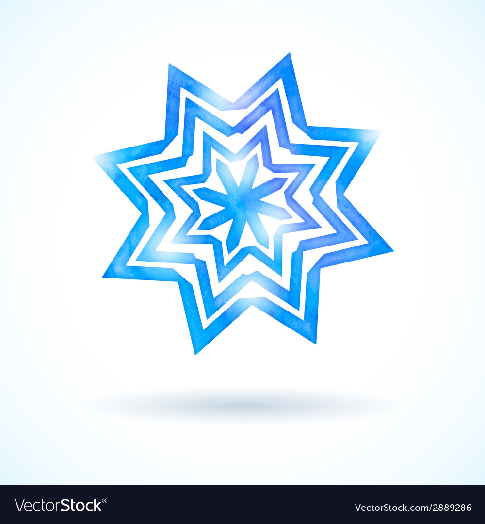 Shining watercolor snowflake vector | Price: 1 Credit (USD $1)