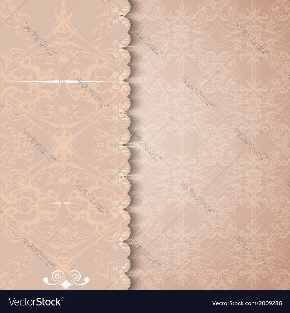 Vintage invitation or greeting card with a lace vector | Price: 1 Credit (USD $1)