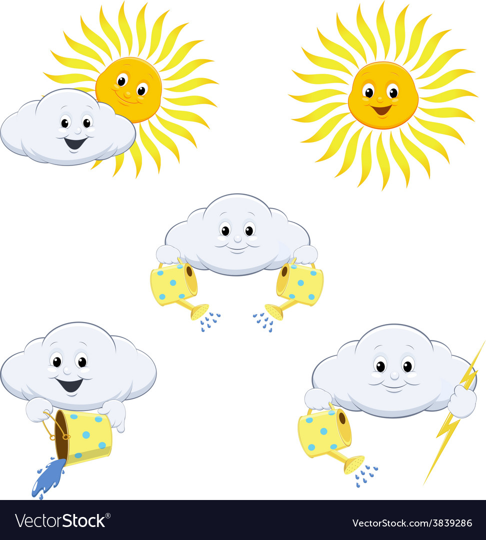 Weather forecast icons vector | Price: 3 Credit (USD $3)