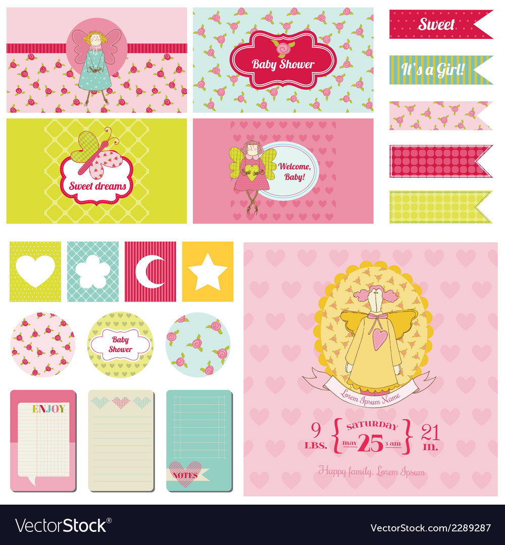 Baby shower nautical theme vector | Price: 3 Credit (USD $3)
