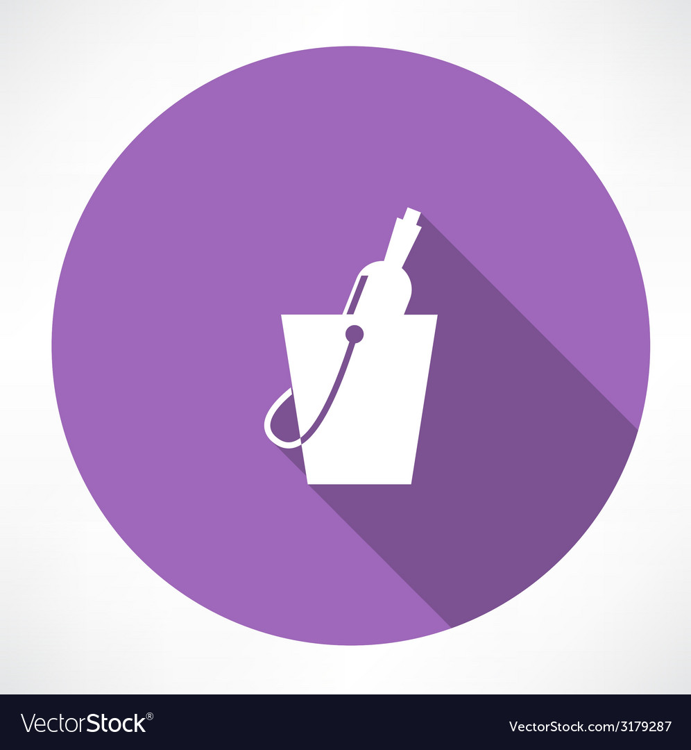 Bottle in a bucket icon vector | Price: 1 Credit (USD $1)