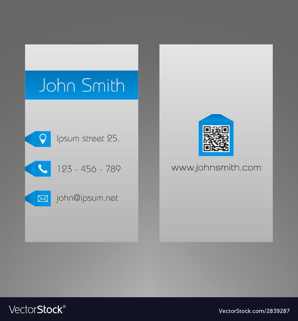 Business card template - modern light grey design vector   Price: 1 Credit (USD $1)