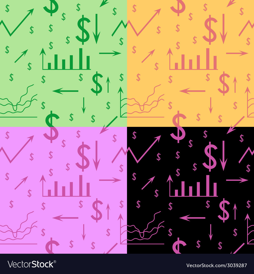 Business seamless pattern vector | Price: 1 Credit (USD $1)