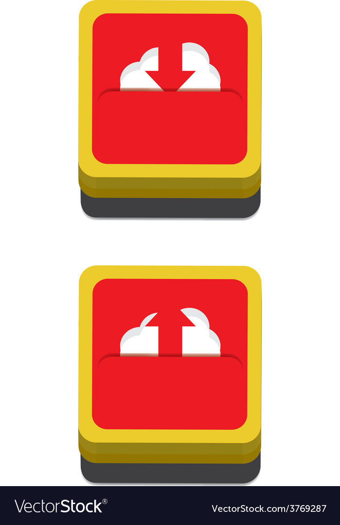 Cloud download and upload icon 29 vector | Price: 1 Credit (USD $1)