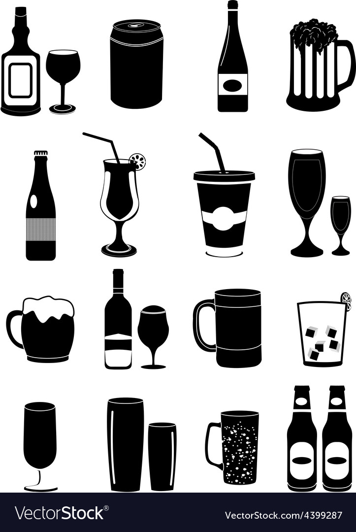 Drinks icons set vector | Price: 3 Credit (USD $3)