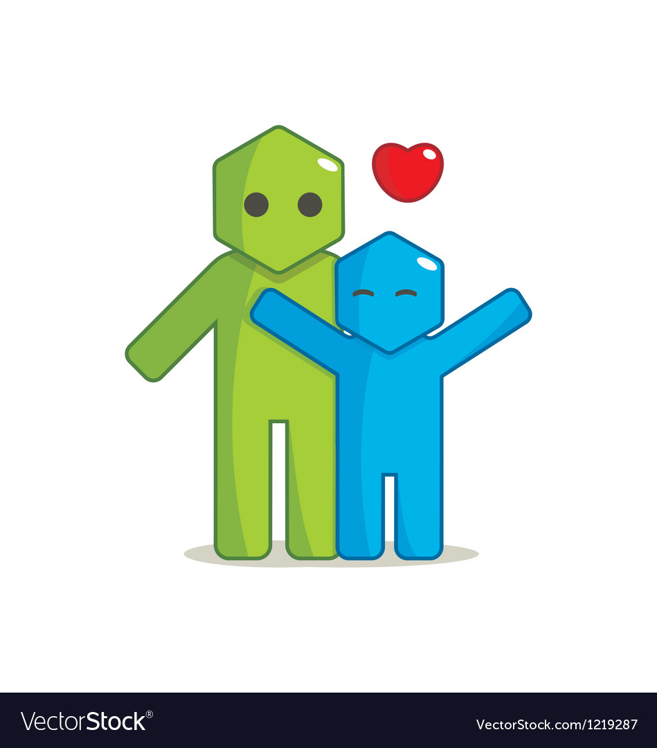 Hexagon man - affection vector   Price: 1 Credit (USD $1)