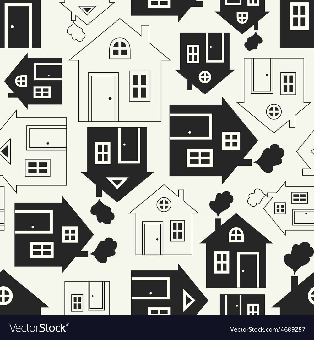 Home sweet home house silhouette and outline vector | Price: 1 Credit (USD $1)