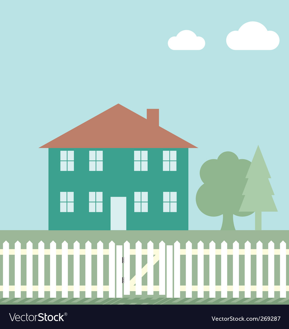 House fence vector | Price: 1 Credit (USD $1)