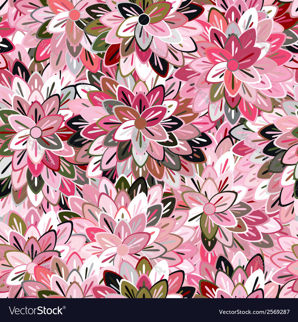 Multicolored seamless floral pattern vector | Price: 1 Credit (USD $1)