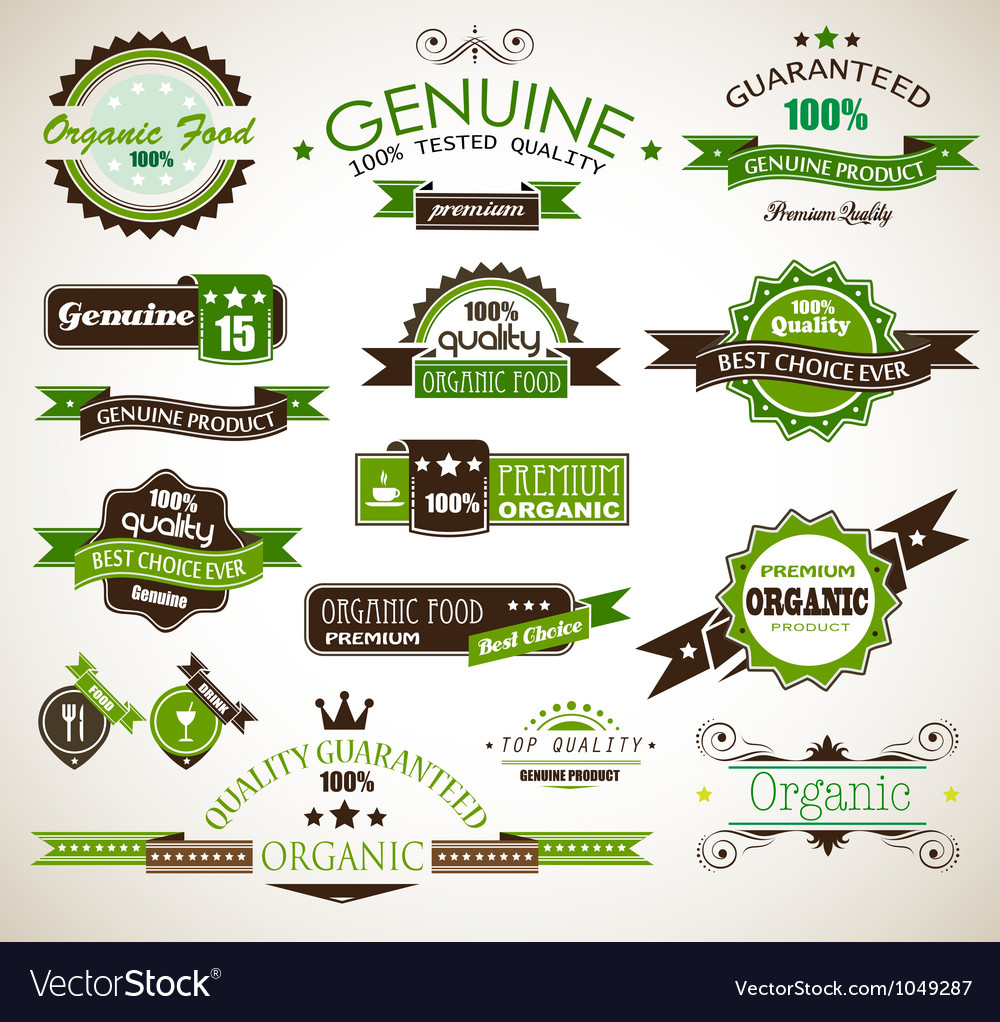 Organic guarantee vector | Price: 1 Credit (USD $1)