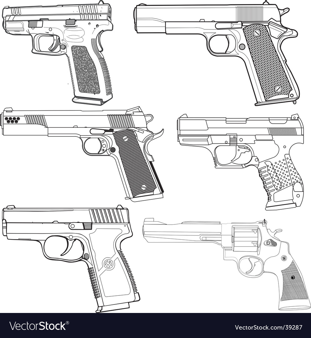 Pistols vector | Price: 1 Credit (USD $1)