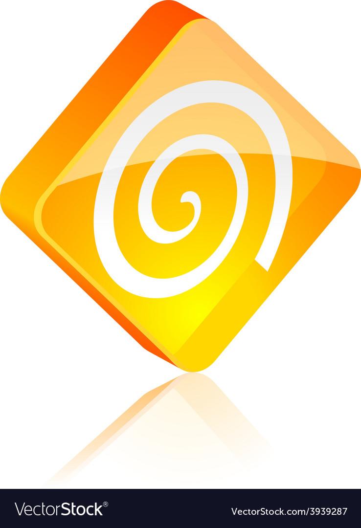 Swirl button vector | Price: 1 Credit (USD $1)