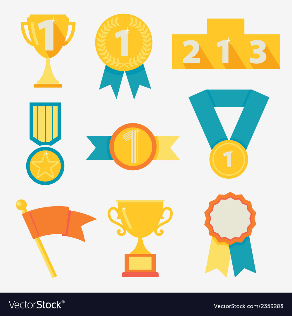 Award icons vector | Price: 1 Credit (USD $1)