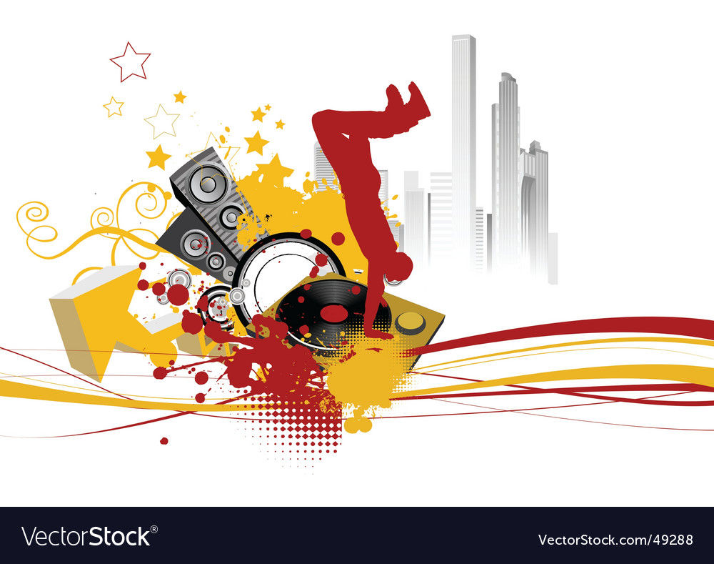 Break dance background vector | Price: 1 Credit (USD $1)