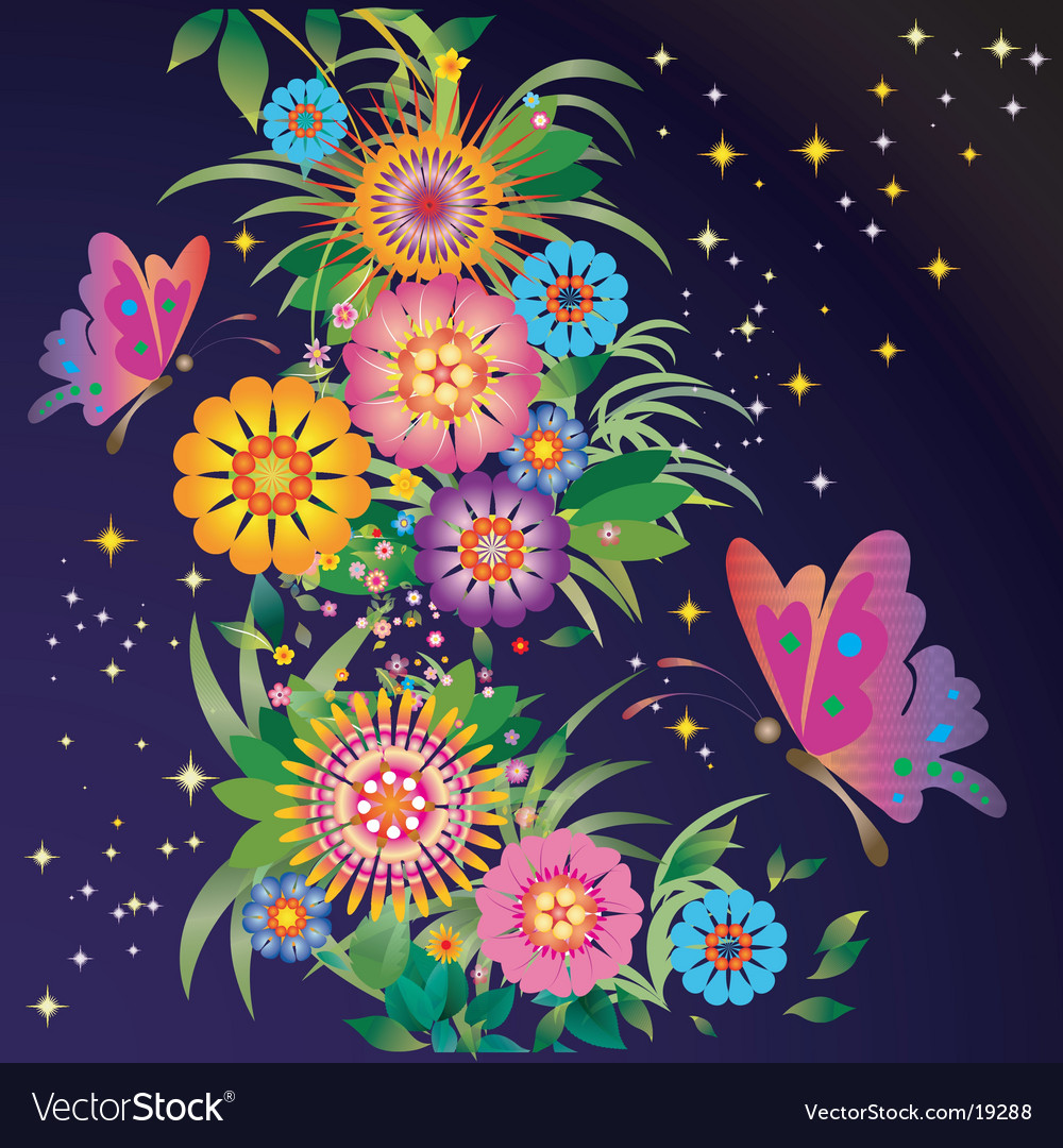 Celestial garden vector | Price: 1 Credit (USD $1)