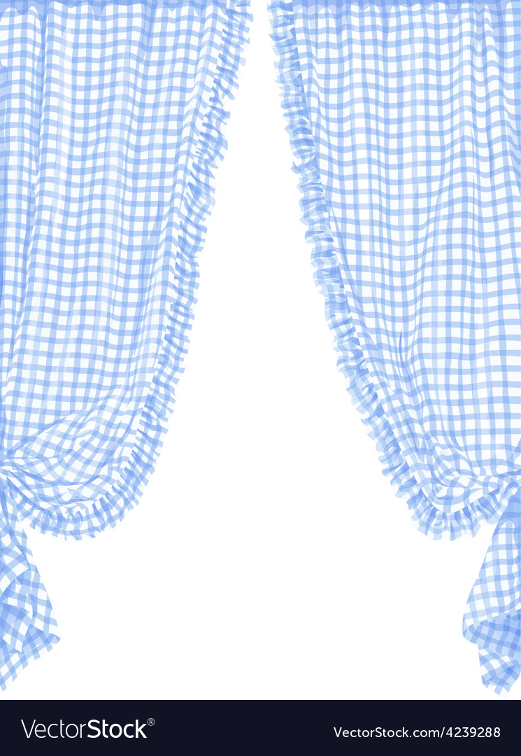Checked curtain vector | Price: 1 Credit (USD $1)