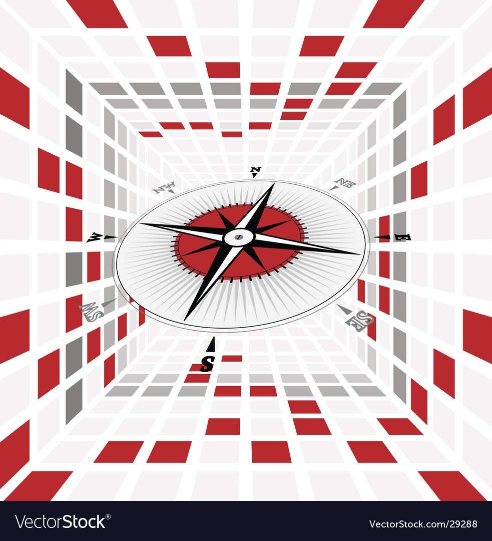 Compass scene vector | Price: 1 Credit (USD $1)