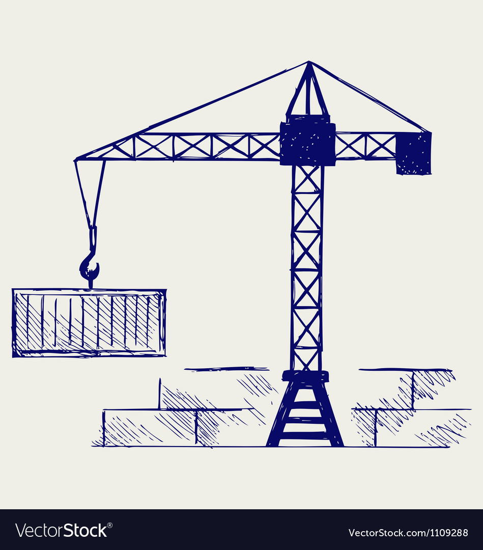 Crane working vector | Price: 1 Credit (USD $1)