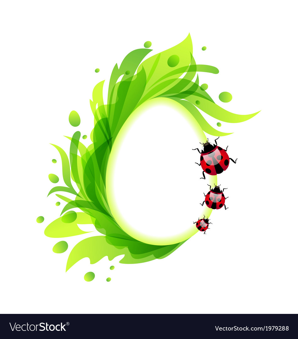 Easter flourish egg with ladybirds vector | Price: 1 Credit (USD $1)