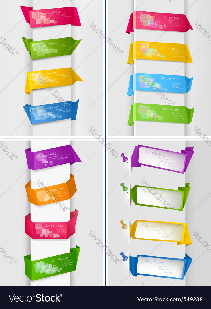 Huge set of colorful origami vector | Price: 1 Credit (USD $1)