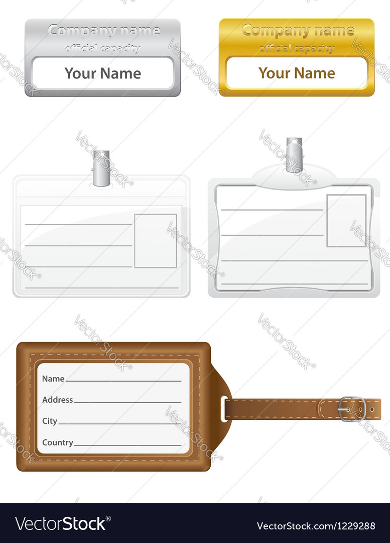 Identification card 06 vector | Price: 1 Credit (USD $1)