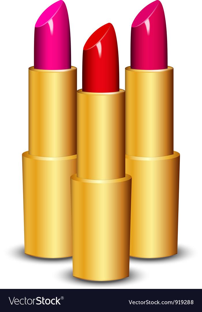 Lipsticks vector | Price: 1 Credit (USD $1)
