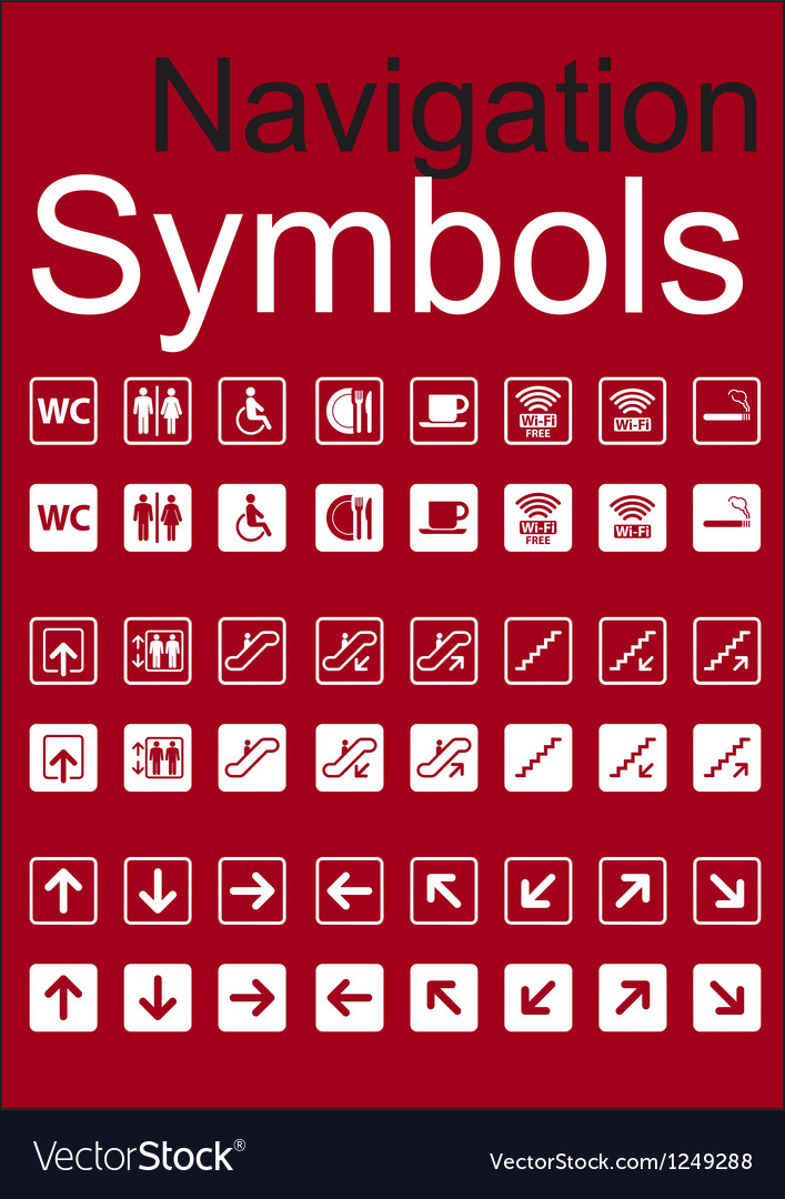 Navigation symbols set vector   Price: 1 Credit (USD $1)