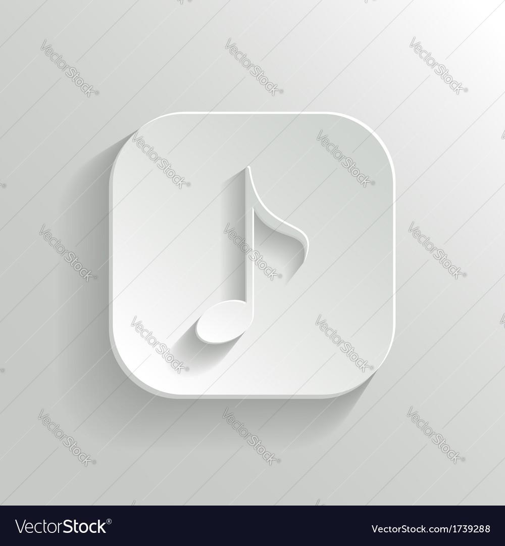Note icon - white app button vector | Price: 1 Credit (USD $1)