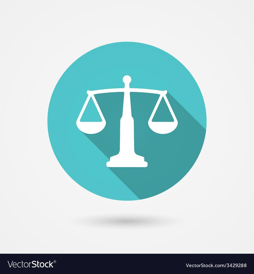 Scales balance icon harmony concept vector | Price: 1 Credit (USD $1)