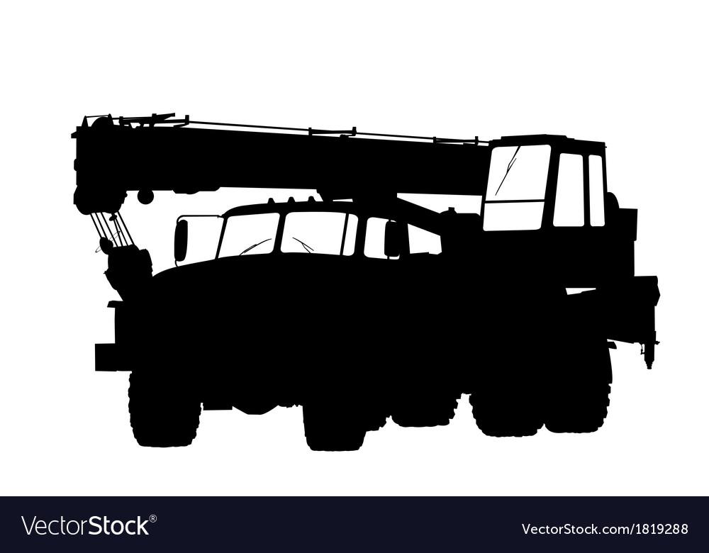 Silhouette of a truck crane vector | Price: 1 Credit (USD $1)