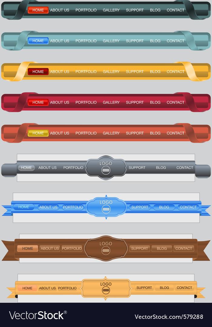 Web menus vector | Price: 3 Credit (USD $3)