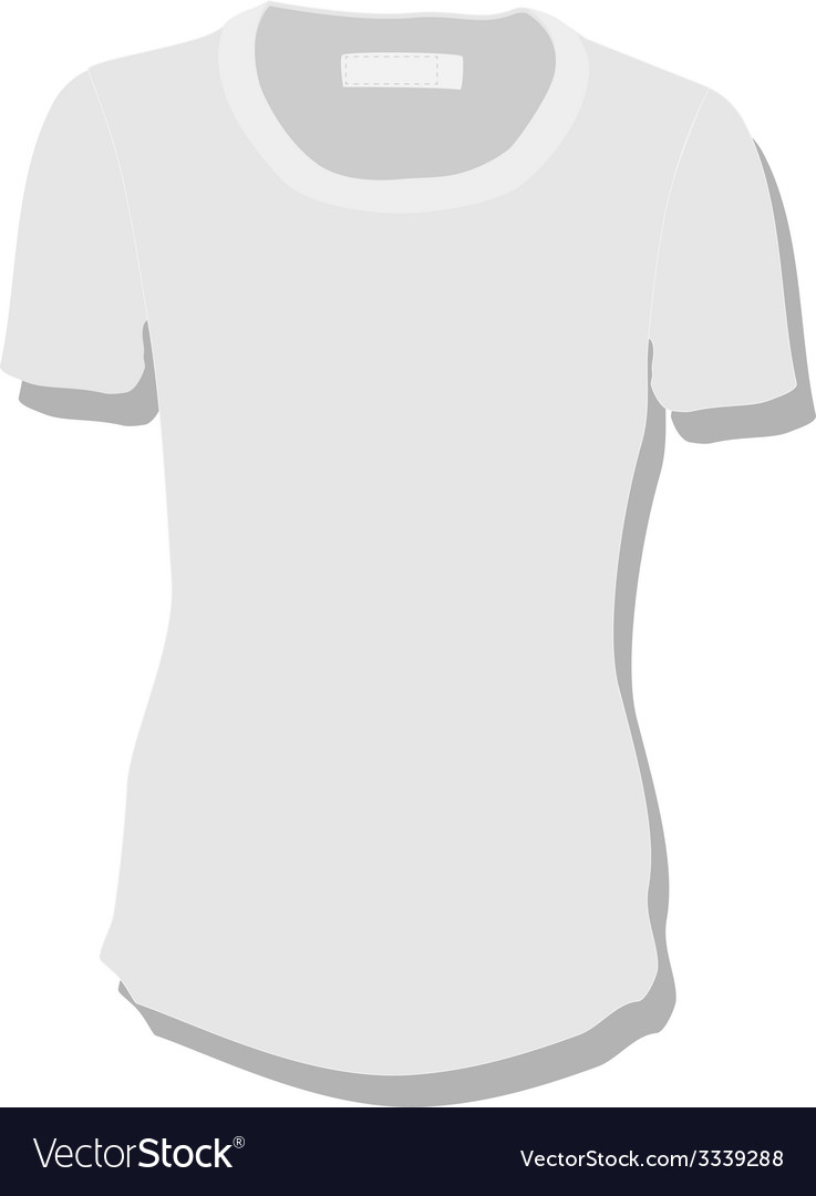 White women t-shirt vector | Price: 1 Credit (USD $1)