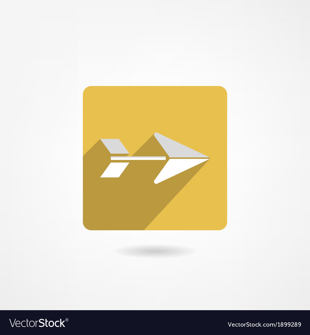Arrow icon vector | Price: 1 Credit (USD $1)