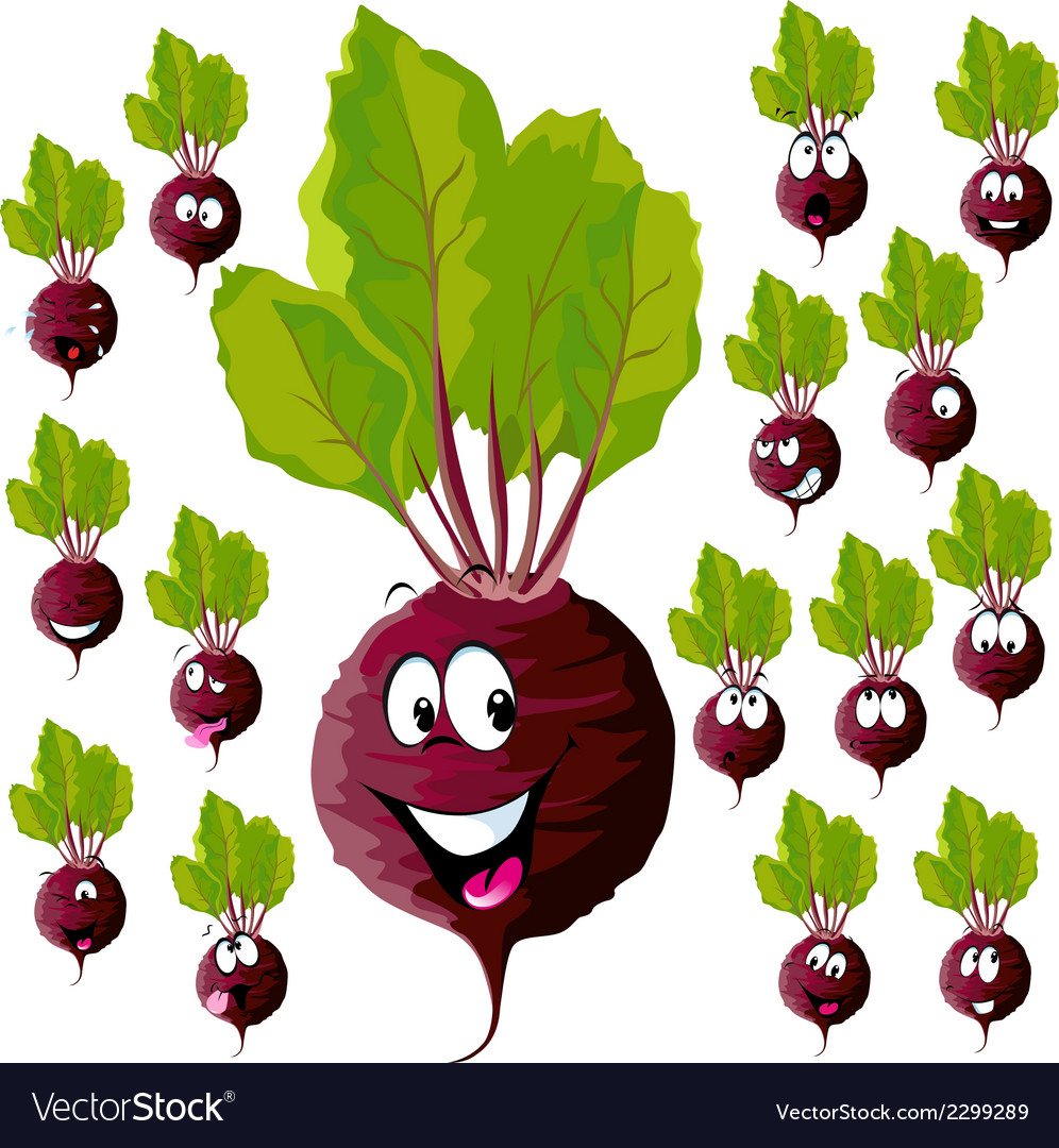 Beetroot with many expressions vector   Price: 1 Credit (USD $1)