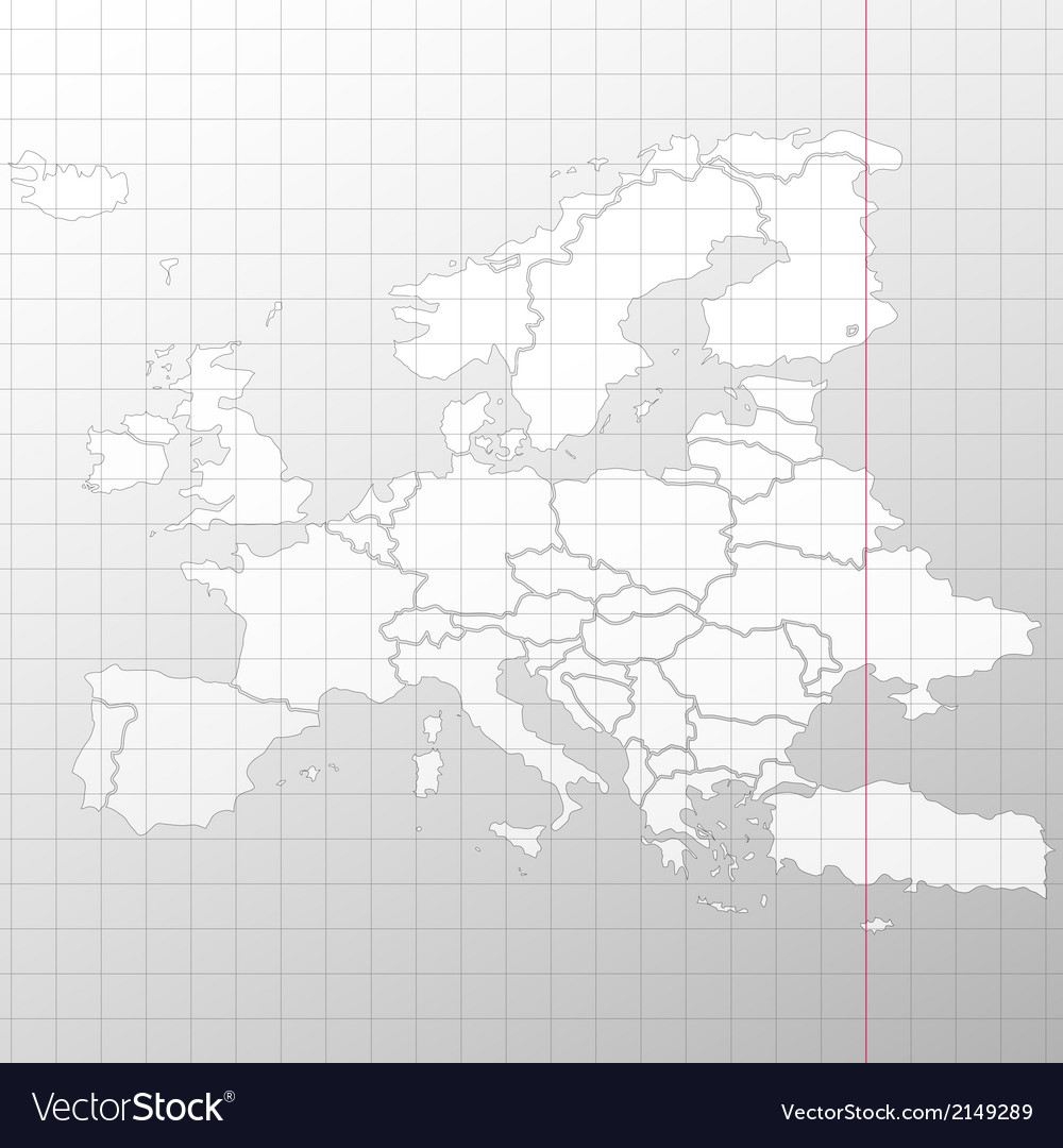 Europe map in a cage on white background vector | Price: 1 Credit (USD $1)