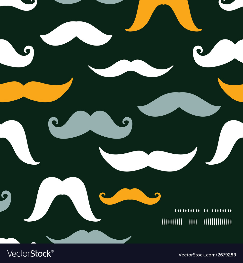 Fun silhouette mustaches frame corner pattern vector | Price: 1 Credit (USD $1)