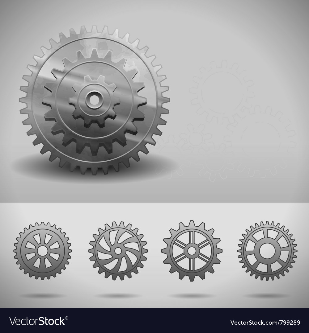 Gear wheels cogwheels vector | Price: 1 Credit (USD $1)