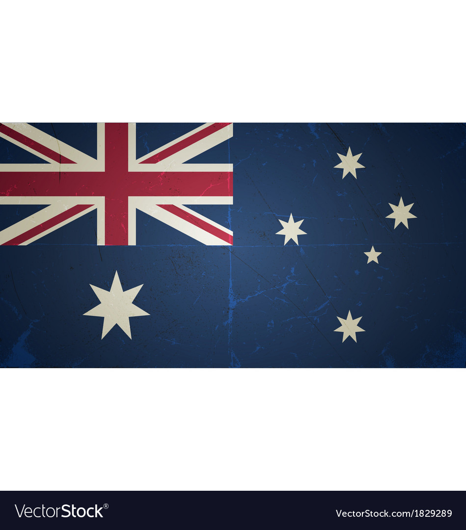 Grunge flags - australia vector | Price: 1 Credit (USD $1)