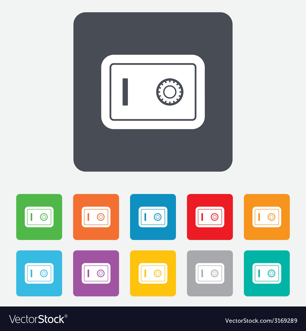 Safe sign icon deposit lock symbol vector   Price: 1 Credit (USD $1)
