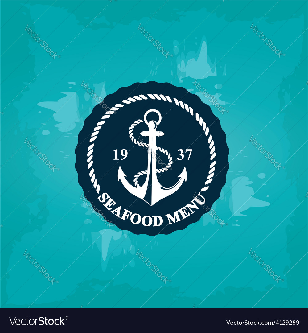 Seafood cafe menu template design vector | Price: 1 Credit (USD $1)