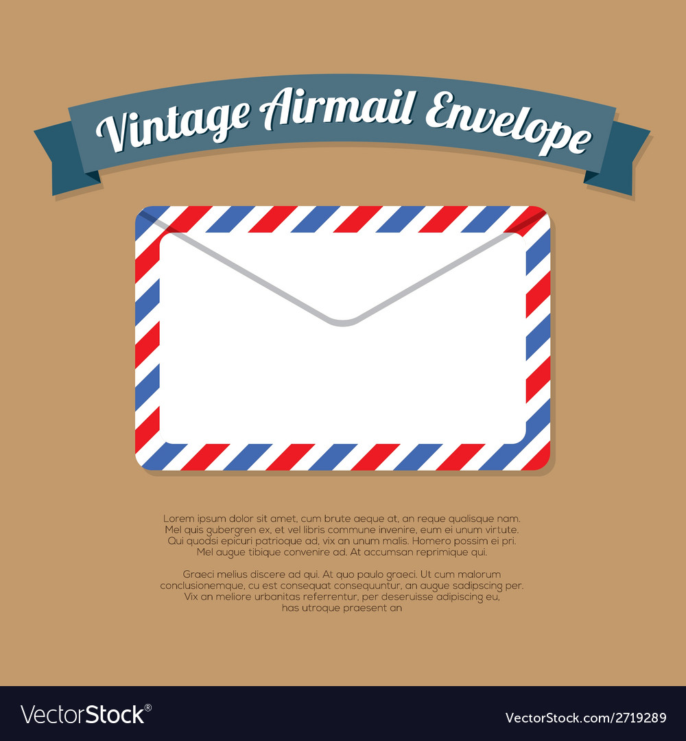 Vintage mail envelope vector | Price: 1 Credit (USD $1)