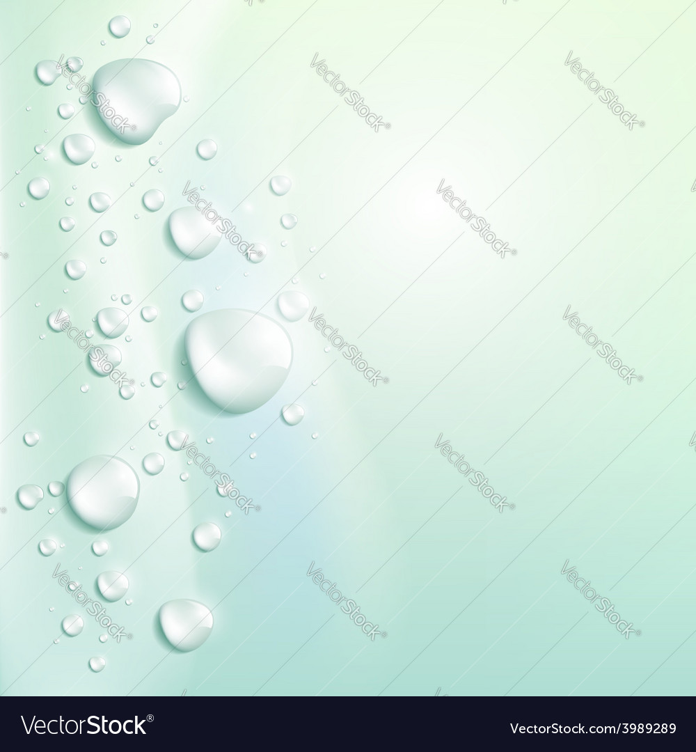 Water drops background vector | Price: 1 Credit (USD $1)