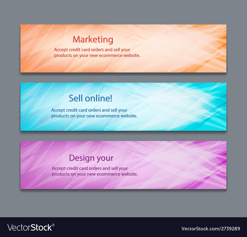 Website header or banner set with beautiful design vector | Price: 1 Credit (USD $1)